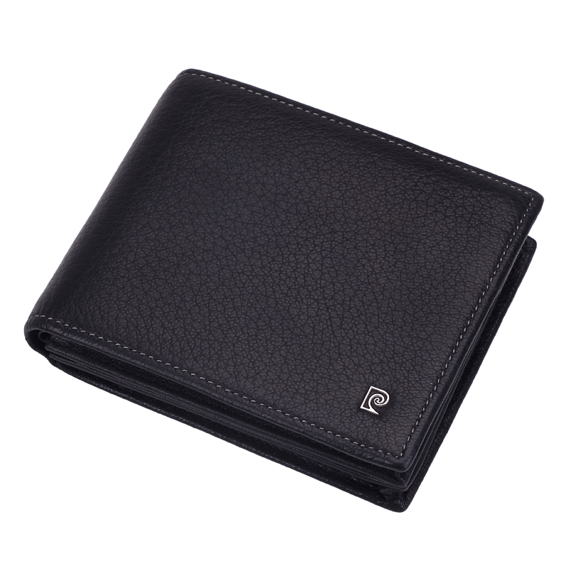 Pierre cardin men's wallet leather wallet short paragraph 2016 buckskin wallet wallet card bit more