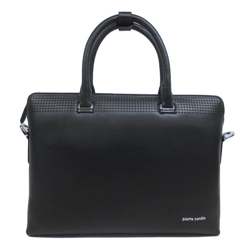 Pierre cardin/pierre cardin 2016 new men's business casual leather bag large capacity handbag