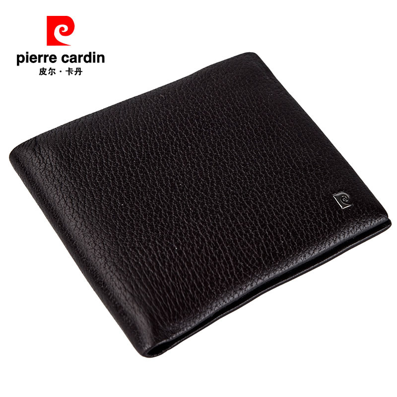 Pierre cardin/pierre cardin men's buckskin wallet cross section men's fashion casual purse wallet
