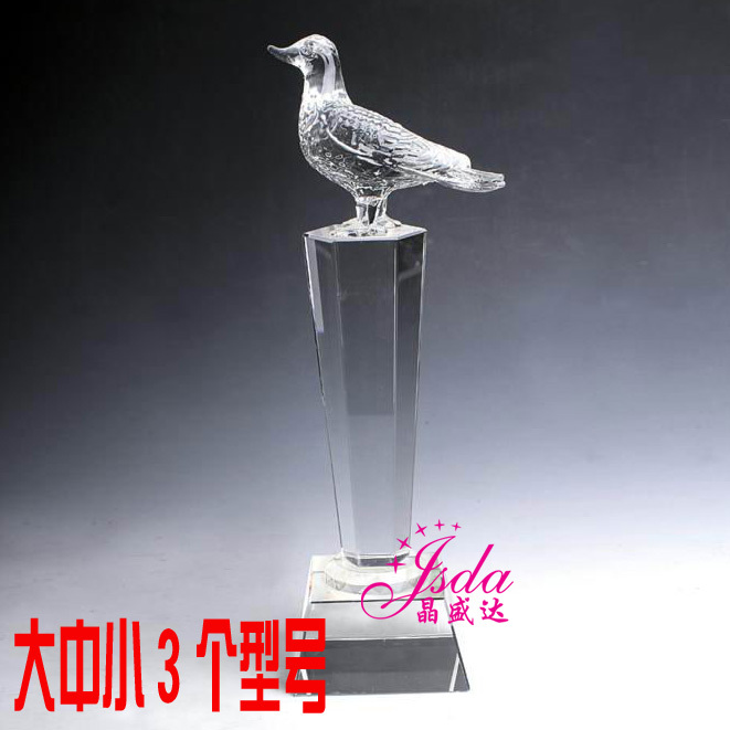 Pigeon pigeon racing pigeon trophy crystal trophy custom spot trophy crystal trophy crystal trophy tournament trophy pigeon
