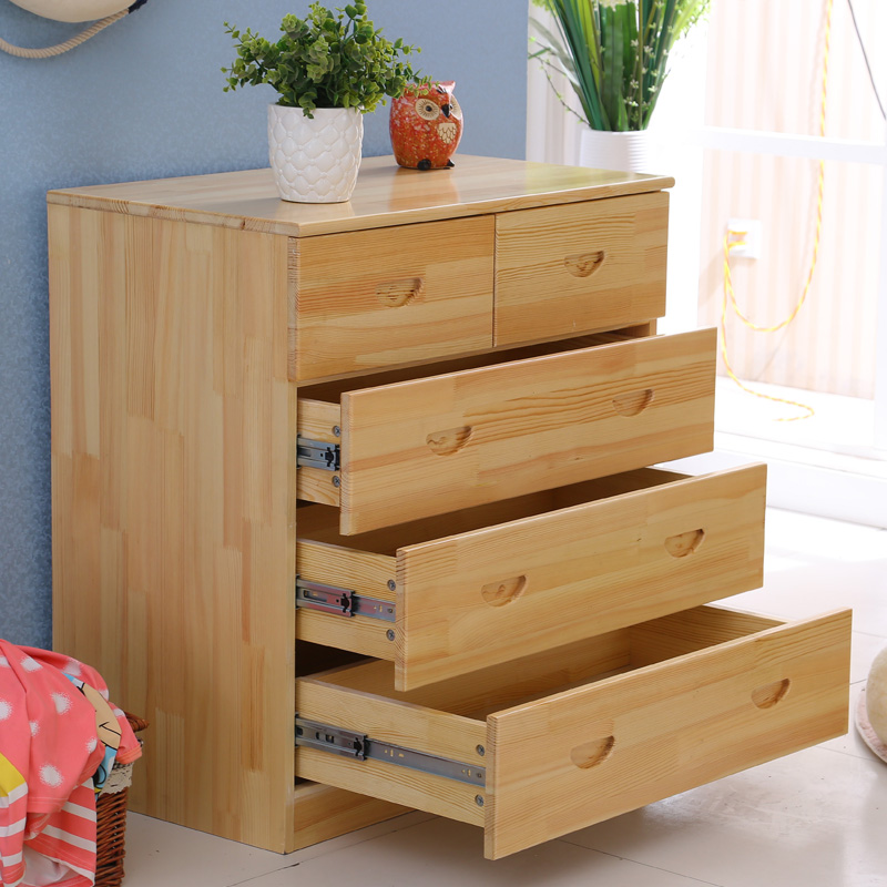 Pine wood chest of drawers cabinet lockers modern minimalist six seven doo doo cabinet storage cabinet drawers specials