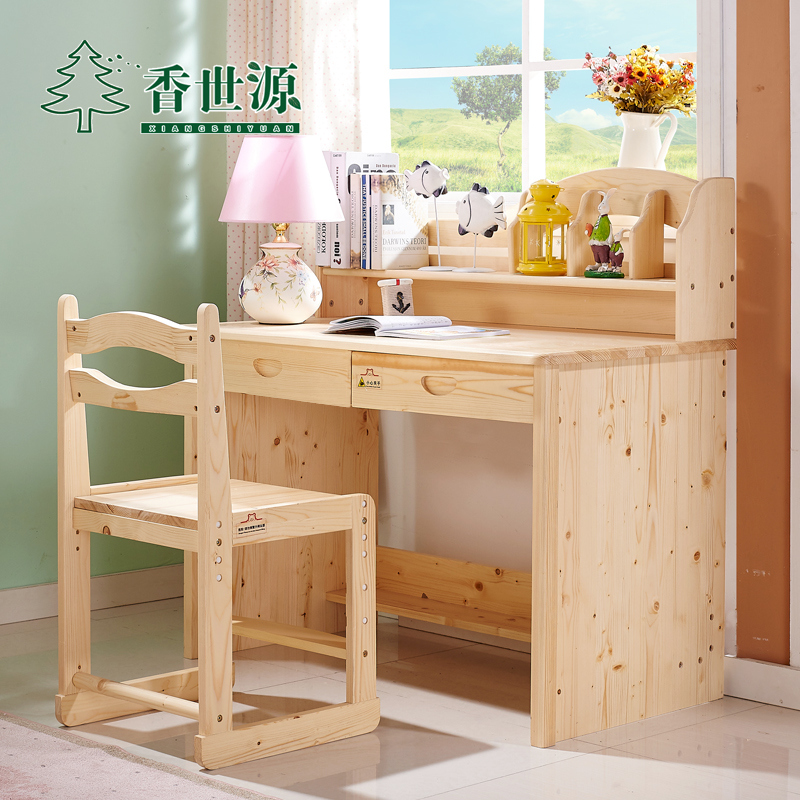 Get Ations Pine Wood Study Tables For Children Pupils Desk Multifunctional S Writing Desks And Chairs