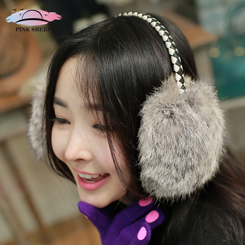 Pink sheep new ms. japanese rabbit fur earmuffs warm plush earmuffs earmuffs lovely autumn and winter days