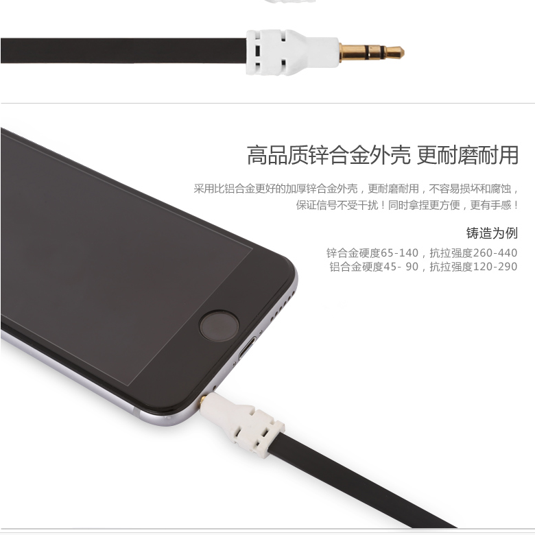 Platinum core 2.4l 5mm male to male audio cable were5mm loud speaker phone car aux cable car modification