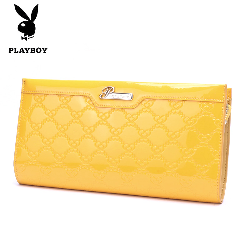 Playboy ladies leather clutch long wallet clutch bag handbag zipper bag korea PCB6081-4R