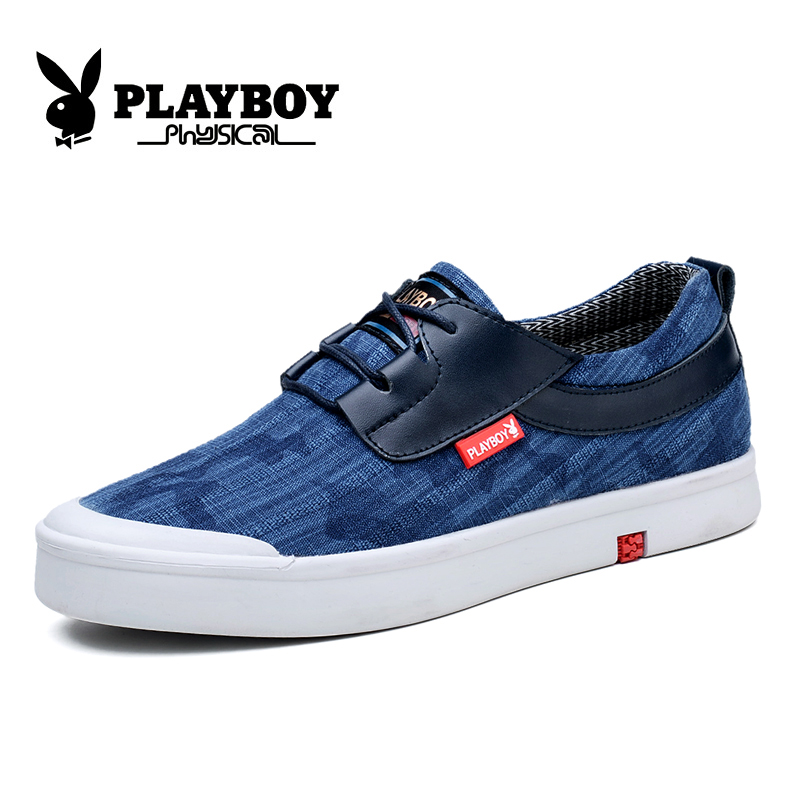 Playboy men's genuine new 2016 summer and autumn canvas shoes retro shoes day often korean version of the trend of shoes
