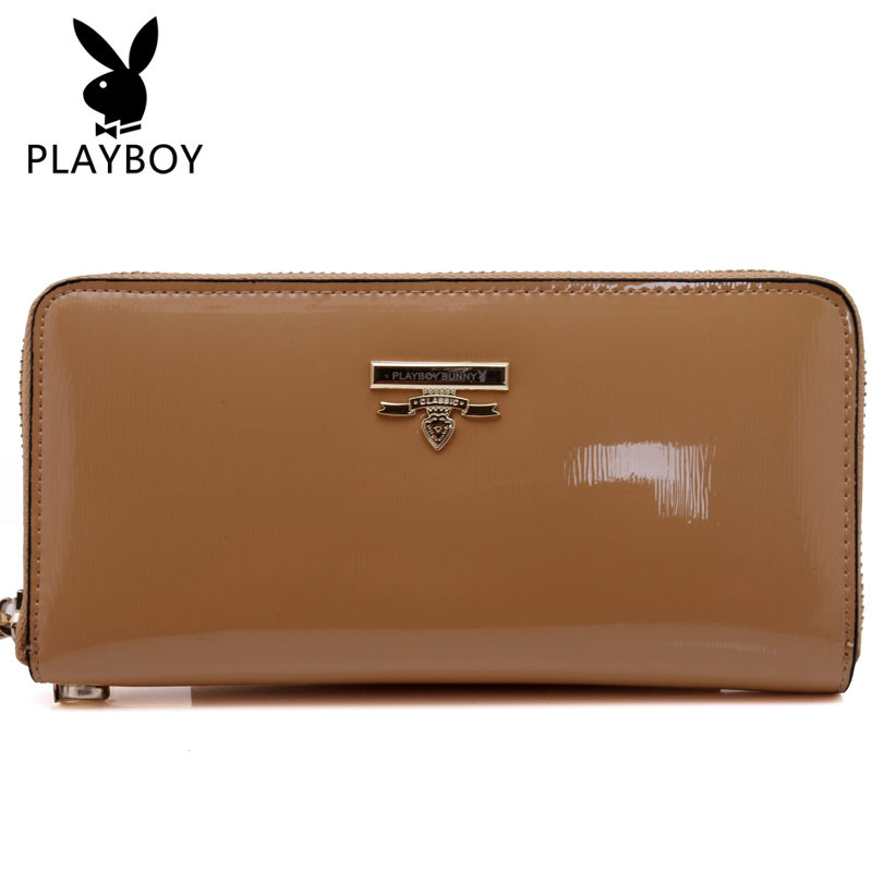 Playboy men's handbag genuine leather clutch bag ladies fashion trend in europe and america female models clutch bag purse small bag