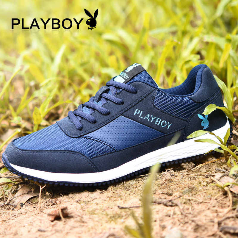Playboy men's new fall sports and leisure shoes trend men's shoes korean version of the shoes breathable running shoes
