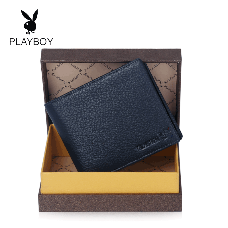 Get Quotations · Playboy men's wallet a short paragraph leather wallet business wallet men wallet cross section tide gift