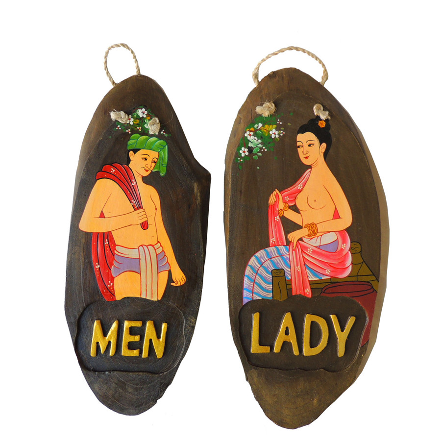 Poem maha thai mural bathing male female bienstock bienstock southeast asian style decoration male and female toilets prompt card prompt card