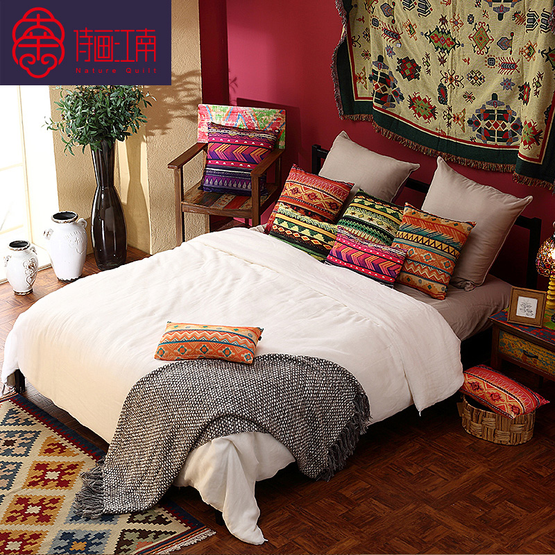 Poetry jiangnan 100% excellence for cotton silk mulberry silk filament spring thin quilts silk picture is the core