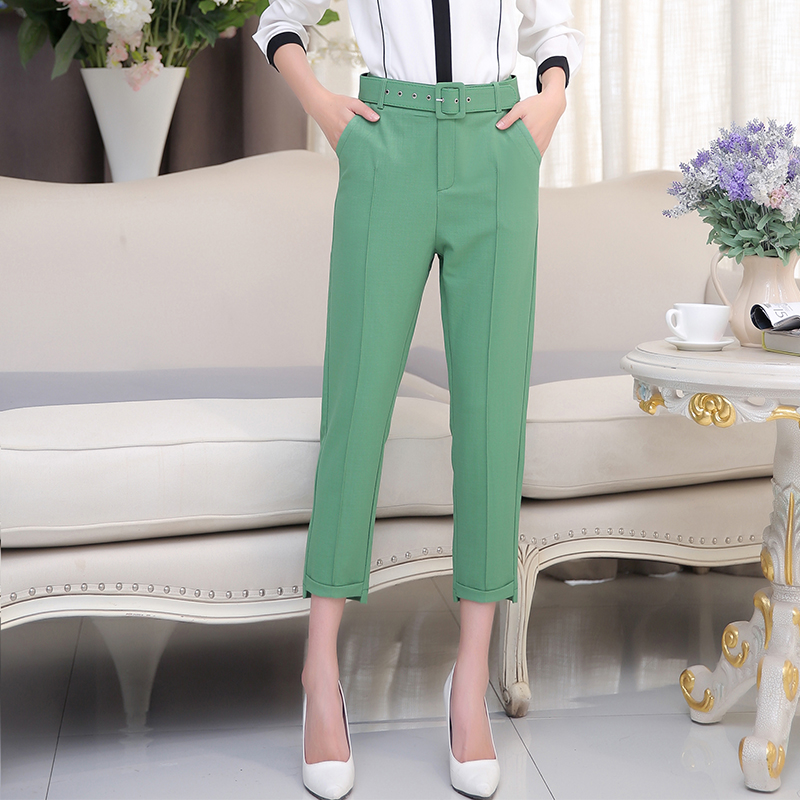 Poetry muya 2016 spring and summer new korean version of slim casual pants pantyhose female feet stretch pencil pants female trousers thin