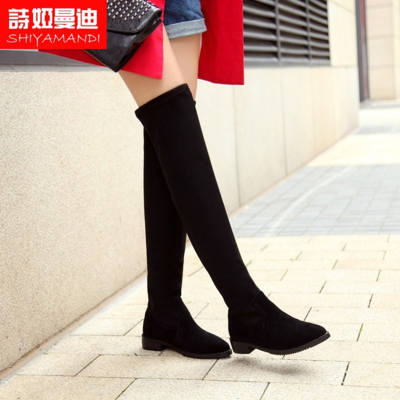 Poetry ya mandi shoes new wave of street casual boutique size yards with flat rubber flow european stations fall and winter boots