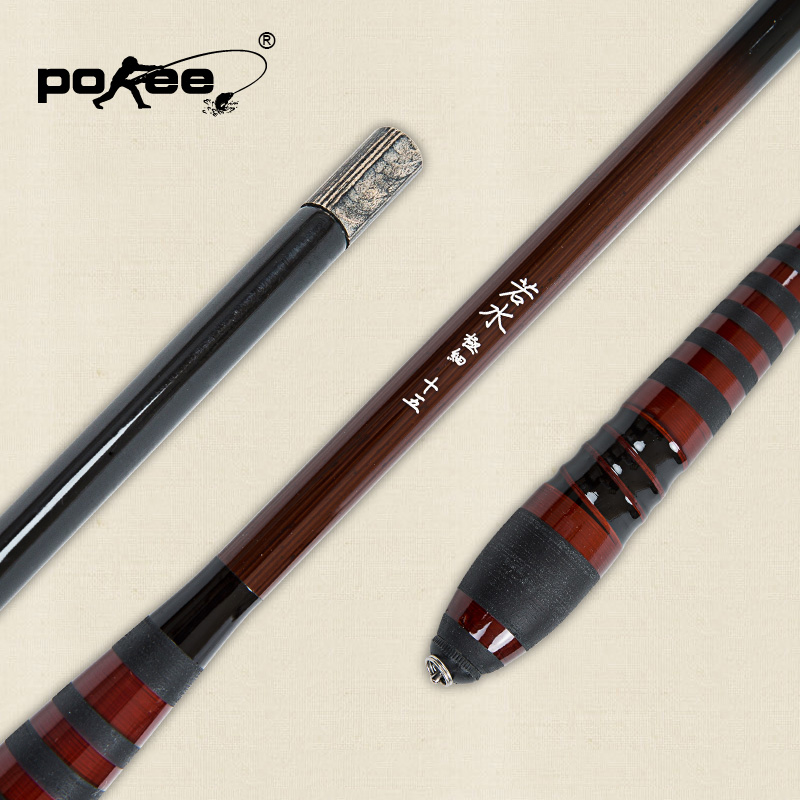 Pokee pacific 4.5 carbon fishing rod 5.4 m taiwan fishing rod hard is like a light pole fishing tackle genuine fine
