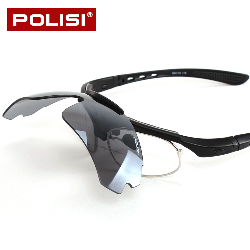 ede31d8a445 Get Quotations · Polisi professional outdoor men and women riding glasses  polarized glasses bicycle glasses riding mirror frame with