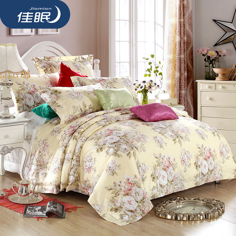 Poor sleep textile cotton sateen cotton printed bedding a family of four quilt in autumn and winter m bed