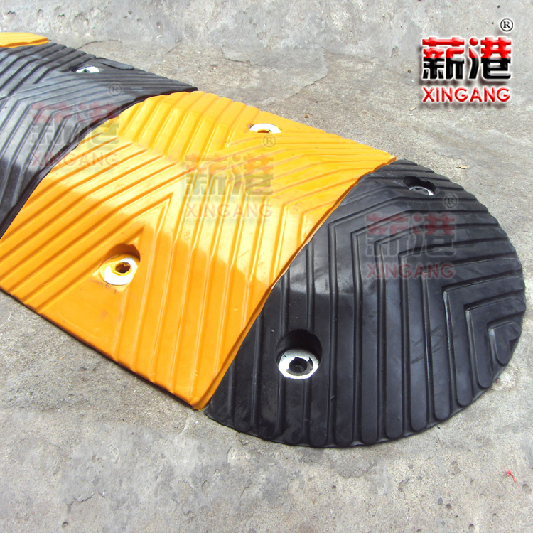 Port salary rubber speed humps rubber pad deceleration deceleration board rubber punch with: d type of quality