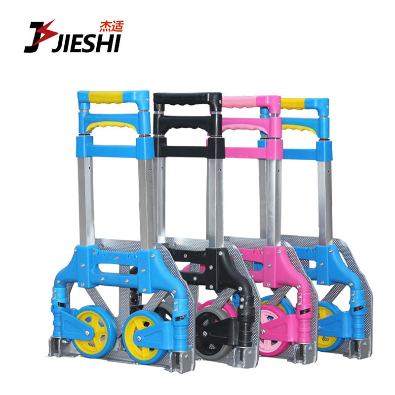 Portable folding luggage cart shopping cart aluminum trolley car driver pull a trailer truck pull carts grocery shopping Small pull a cart