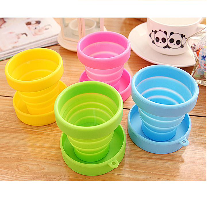 Portable folding outdoor sports travel silicone folding retractable cup cup cup cups wash cup