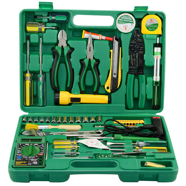 Power of the lion 51 51PC 0953553件telecommunications tool set tool combination package of telecommunications electronic tools w051