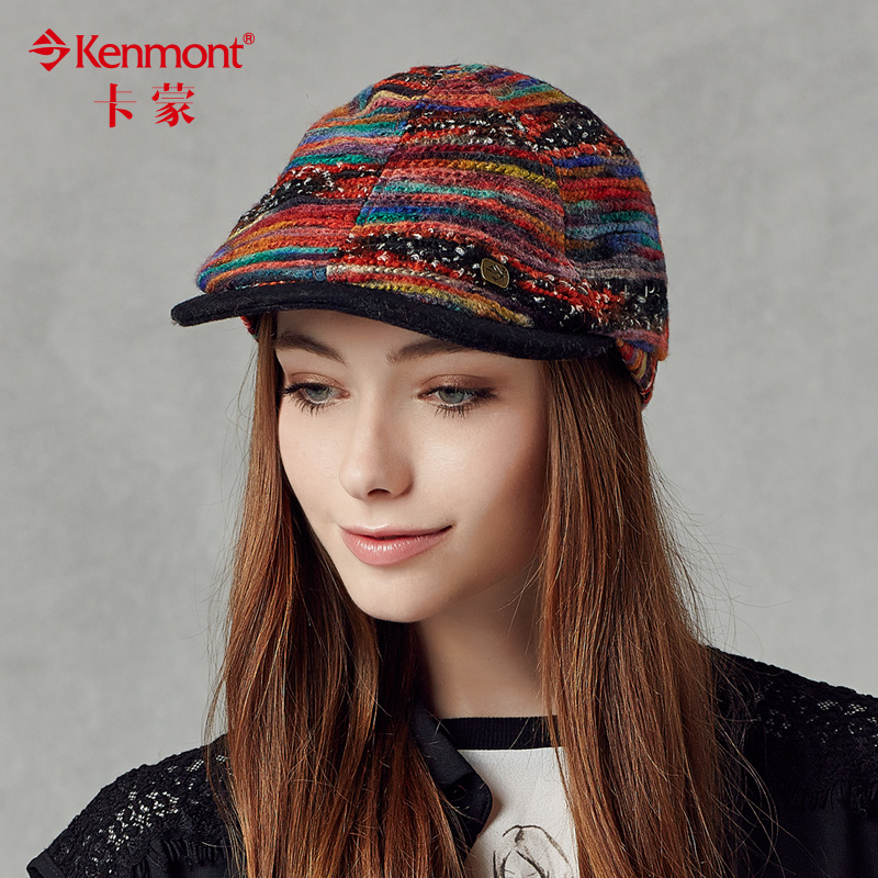 Preferential carmon cap cotton flax female new complex gubei lei hat beret hat lady hat winter hat female 2363