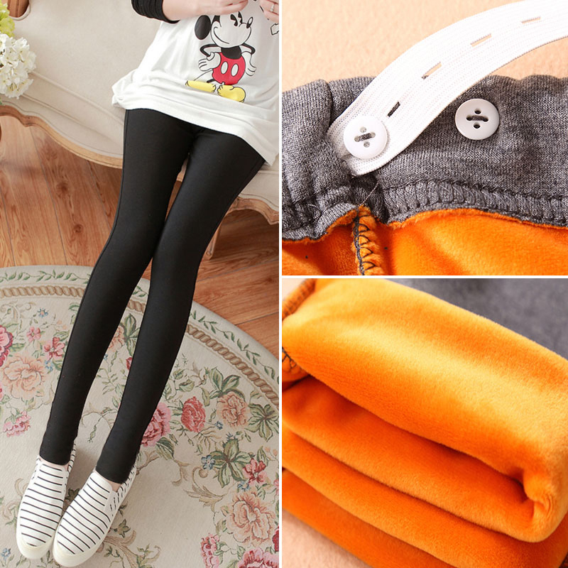 ab27fcc7d Get Quotations · Pregnant women pants fall and winter clothes slim was thin  prop belly pants trousers solid color