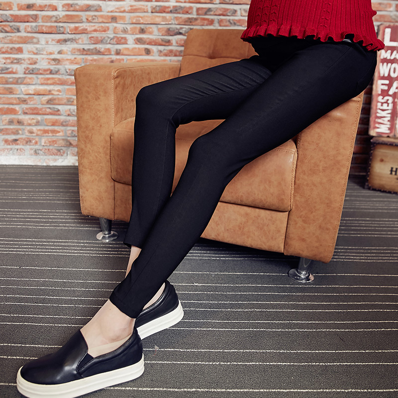 Pregnant women pants fall and winter outer wear trousers feet care belly pants big yards pregnant maternity winter plus velvet leggings pregnant women