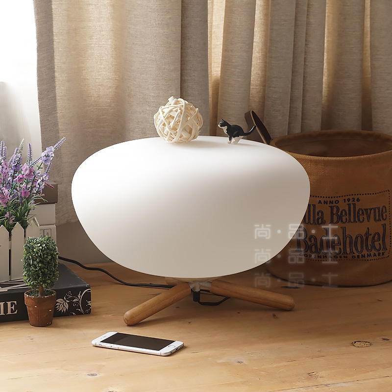 Premier disabilities nordic ikea creative personality cozy bedroom bedside lamp american designer lamp glass ball lamp