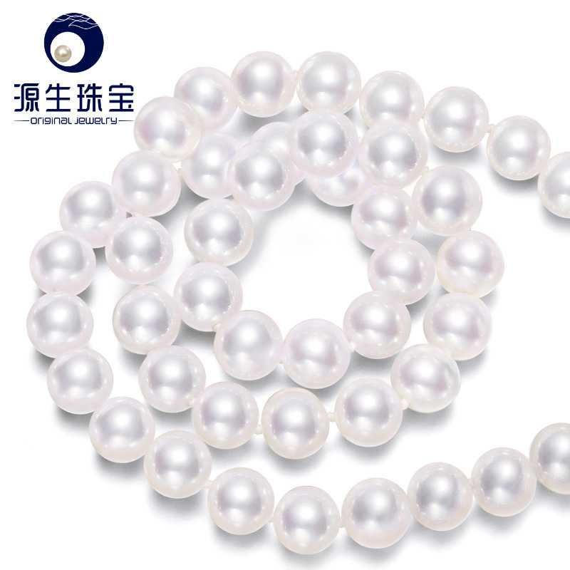 Primal jewelry passion 8.5-9mm perfect circle akoya seawater pearl necklace pearl jewelry chain clavicle