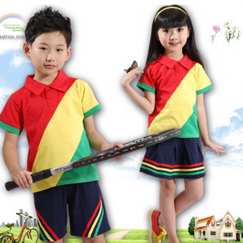 Primary and secondary school uniforms 2016 costumes new summer wind of england boys and girls school uniforms kindergarten class service