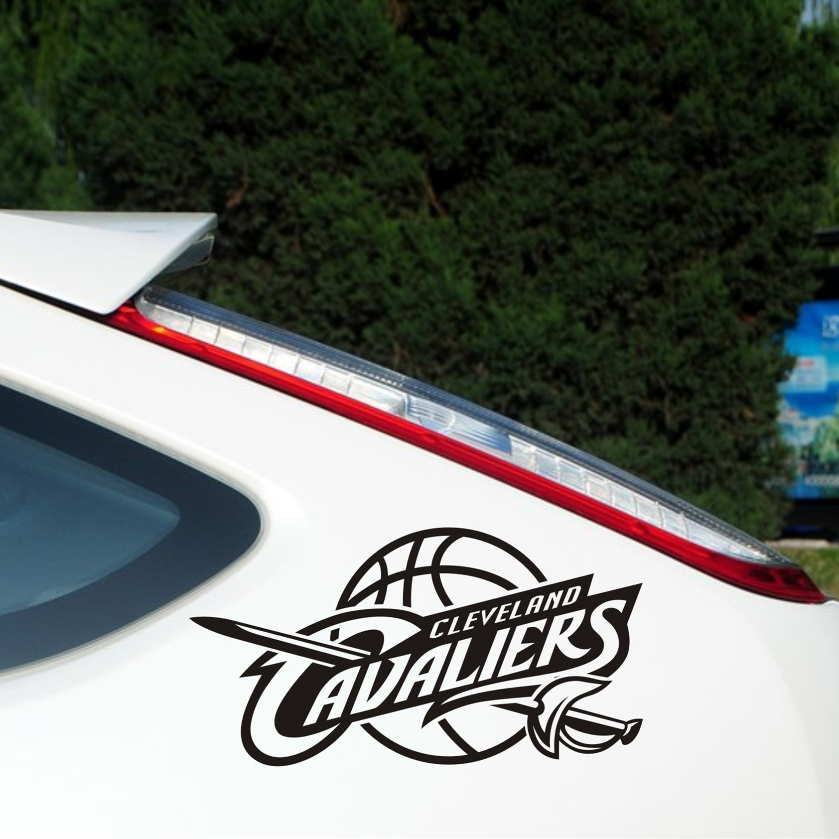 Pro czech gosklno owen loew lebron cavaliers nba team logo car stickers reflective car stickers car stickers tank body