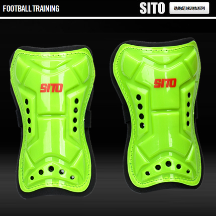 Professional football shin pads straps sponge cushion holes and hard to increase the large adult shin pads