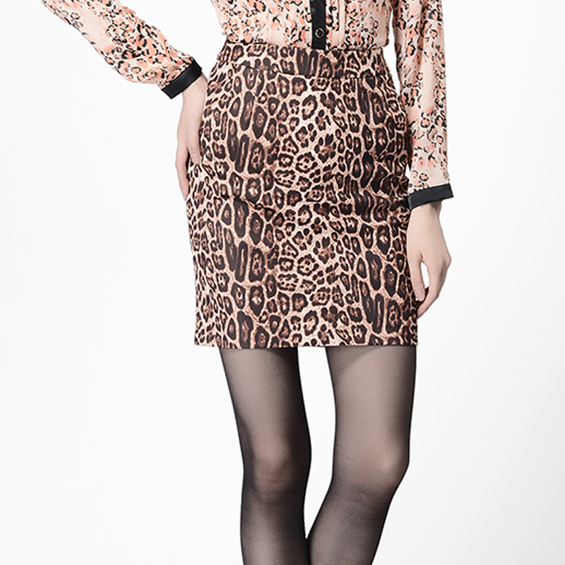 Professional women monopoly dew fashion career commuter leopard style skirt 5326