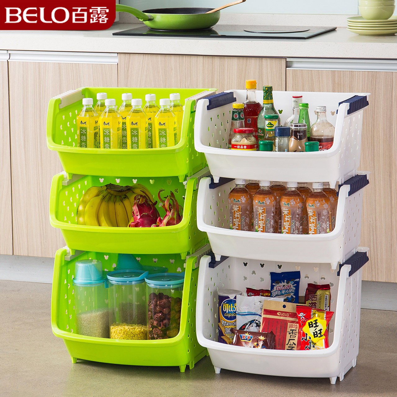 [Promote] dew 1 heightening 2 cm large fruit and vegetable kitchen shelving cruet kitchen storage rack storage rack
