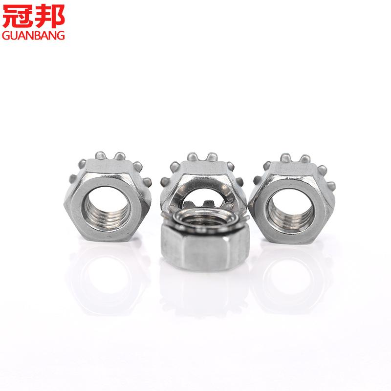 Promotional/m4-m8/k type 304 stainless steel nut/us cap/nut more/ Toothed nut/flower tooth cap