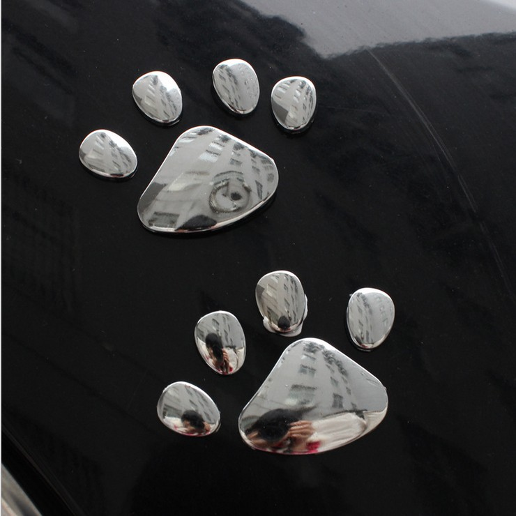 Proton car car decoration personalized car stickers metal 3d stereo catlike dog paw paw footprints feet stickers