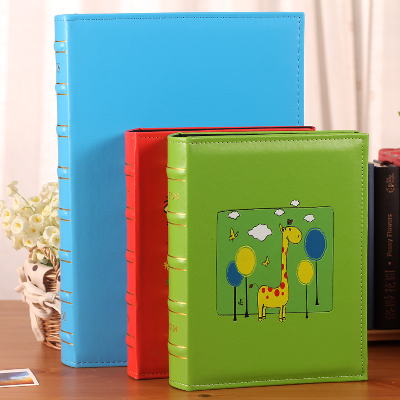 Pu leather interstitials 4r6 inch 6-inch photo album album 4d large 6 200 large capacity baby album family album With a thin