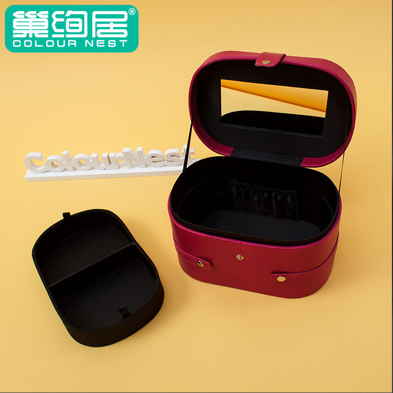 Pu leather storage box pendant necklace box jewelry box portable jewelry jewelry storage box material multilayer jewelry box small jewelry