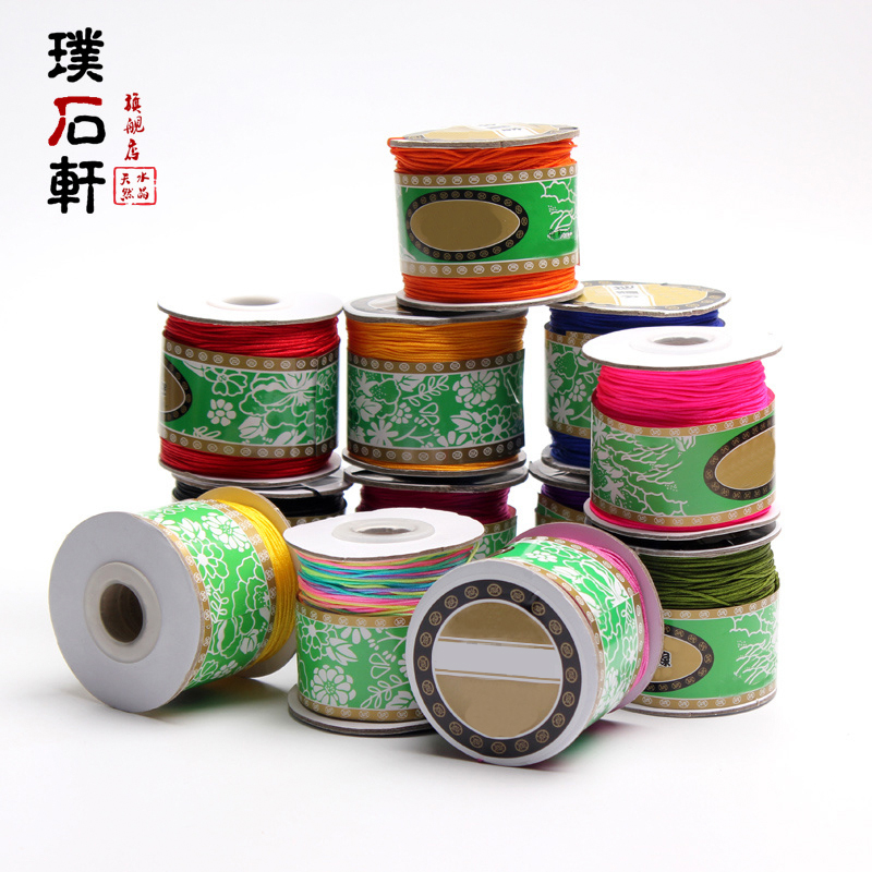Pu shi xuan jade line diy handmade jewelry braided material no. 72 red chinese knot wire braided rope shipping