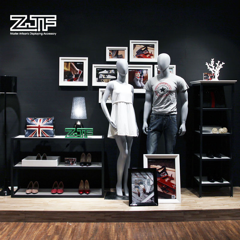 Public carpenter square zjf clothing store window design business and creative combination of whole small cargo rack frame custom display props