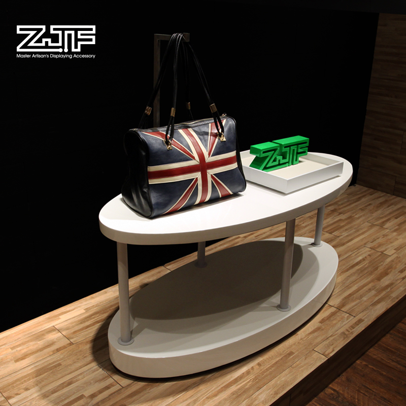 Public carpenter square zjf clothing store window display props small shoe store display shelf white paint exhibitive plateforms d2'