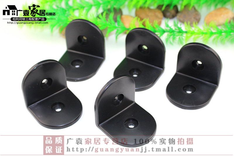 Public toilet partition hardware accessories toilet fittings black nylon angle code right angle cut off accessories