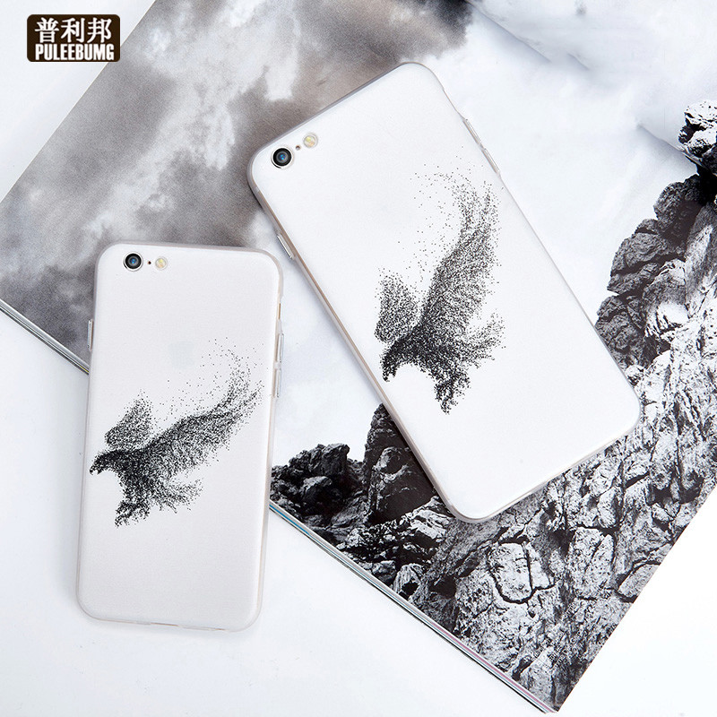 Puli bang apple 6 plus iphone6plus creative personality eagle original phone shell mobile phone shell silicone soft case