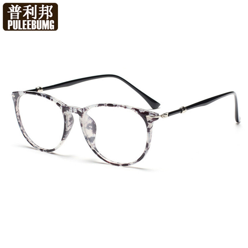 Pully bang retro decorative glasses plain glasses frames can be equipped with myopia frame glasses frame eye glasses myopia glasses frames for men and women