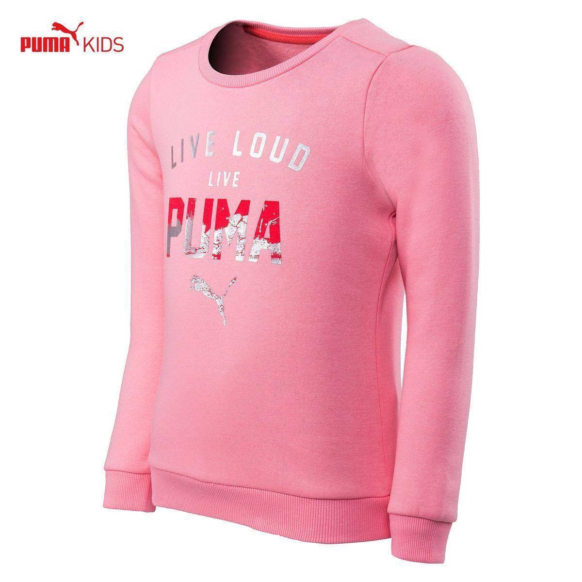 5e0d18949 Get Quotations · Puma puam childrenwear female big boy autumn new pink  pullover sweater girls big boy plus velvet