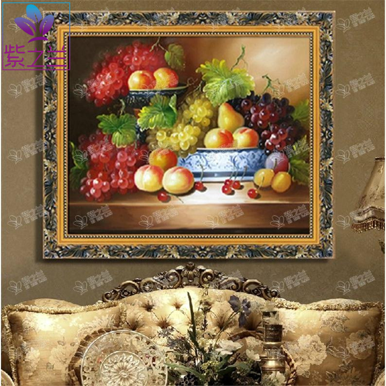 Pure hand painted oil painting still life of fruit classical european modern minimalist bedroom dining room lobby restaurant decorative painting