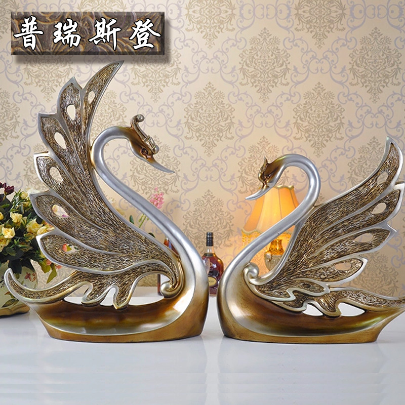 Puri stearns authentic european and american style swan couple living room tv cabinet ornaments decorations wedding gift ideas gift