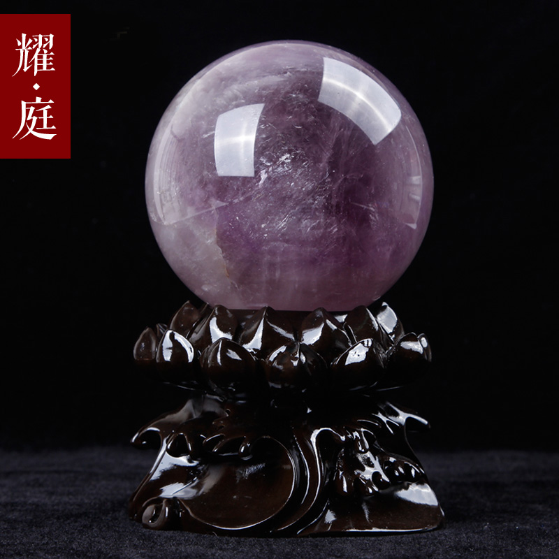 Purple crystal ball ornaments home furnishings knick knacks bedroom feng shui opening girlfriends to send a gift of love