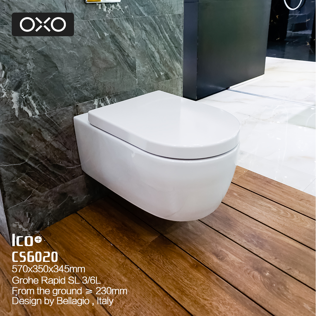 Qcisd concealed wall mounted wall drainage tank toilet seat toilet mute + german imports grohe CS6020