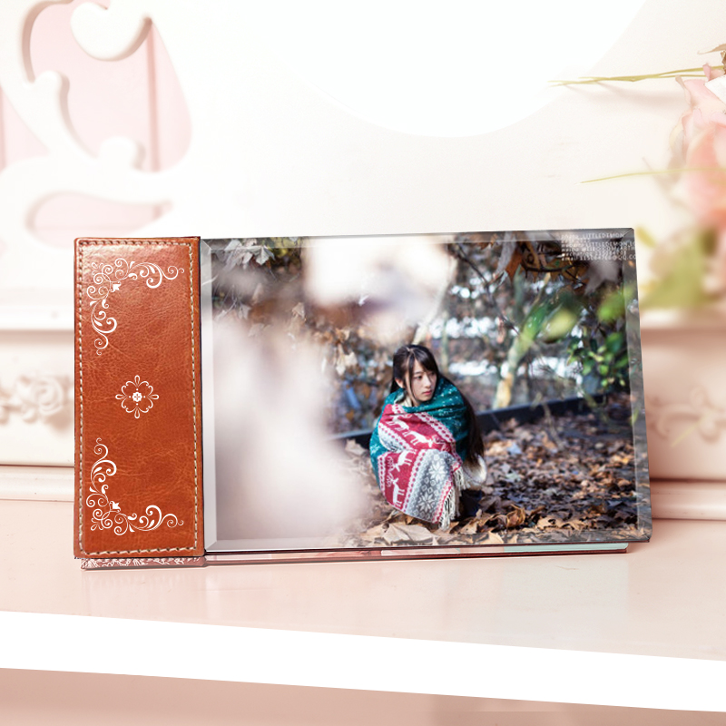 Qi cai 9 inch crystal swing sets wedding photo production diy custom photo frame swing sets and creative gift ideas customized